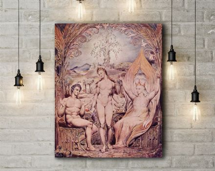 William Blake: Raphael Warns Adam and Eve. Religious Fine Art Canvas.